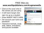 free web site www worthpublishers com krugmanwells9
