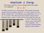 amplitude energy