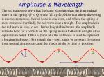 amplitude wavelength