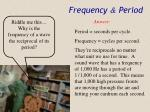 frequency period