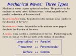 mechanical waves three types