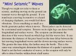 mini seismic waves