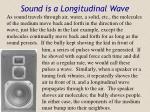 sound is a longitudinal wave