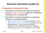 biowaiver dissolution studies 2
