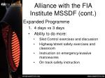 alliance with the fia institute mssdf cont