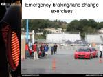 emergency braking lane change exercises