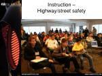 instruction highway street safety