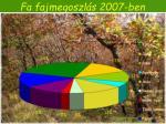 fa fajmegoszl s 2007 ben