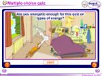 multiple choice quiz