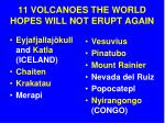 11 volcanoes the world hopes will not erupt again