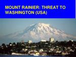 mount rainier threat to washington usa