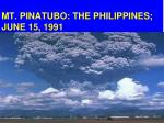 mt pinatubo the philippines june 15 1991