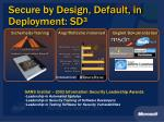 secure by design default in deployment sd