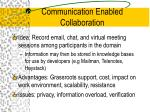 communication enabled collaboration