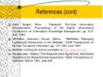 references cont
