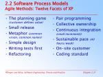 2 2 software process models agile methods twelve facets of xp