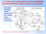2 3 tools and techniques for process modeling dynamic modeling system dynamics continued41