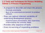 2 3 tools and techniques for process modeling sidebar 2 4 process programming