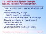 2 5 information system example piccadilly television advertising system
