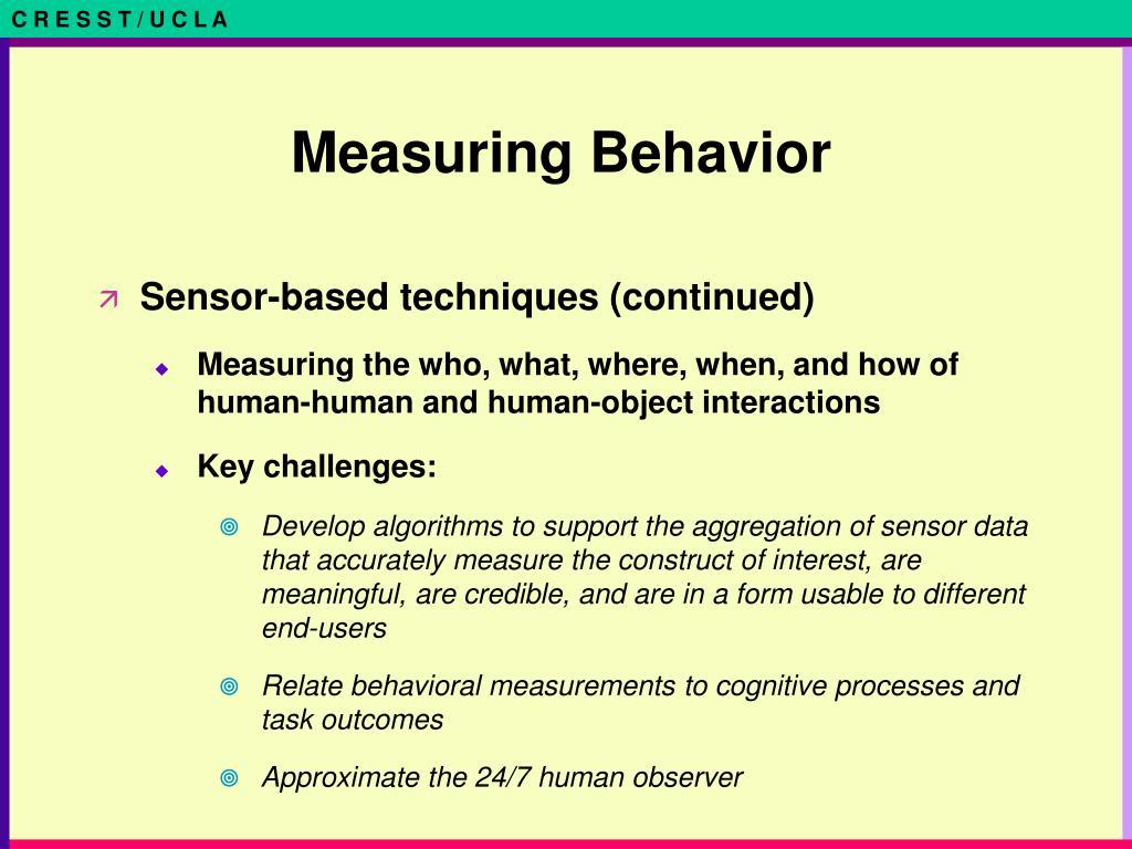 Measuring Behavior