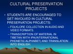 cultural preservation projects
