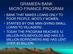 grameen bank micro finance program