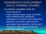 grassroots development skills training course