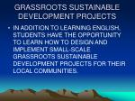 grassroots sustainable development projects