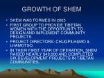 growth of shem