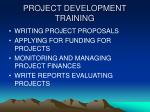 project development training