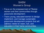 shem women s group
