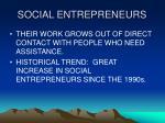 social entrepreneurs16