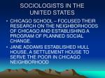 sociologists in the united states