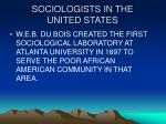 sociologists in the united states11
