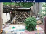 storage for firewood