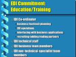edi commitment education training
