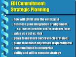 edi commitment strategic planning