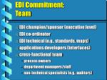 edi commitment team