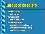 edi success factors