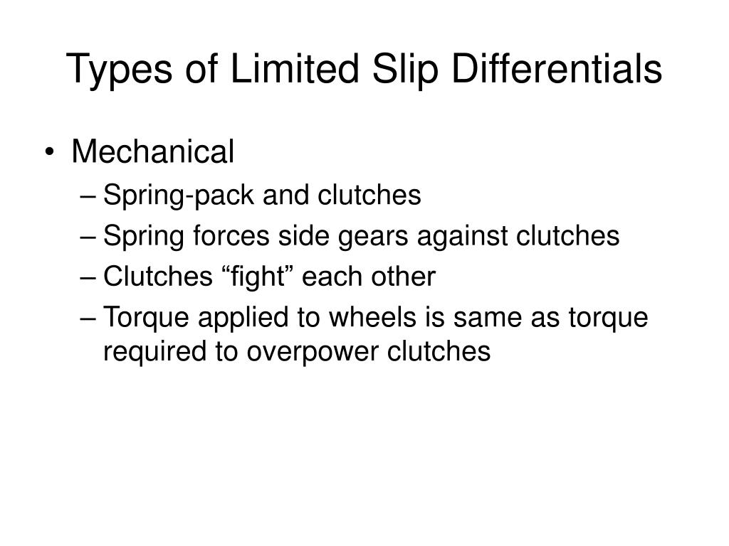 Types of Limited Slip Differentials