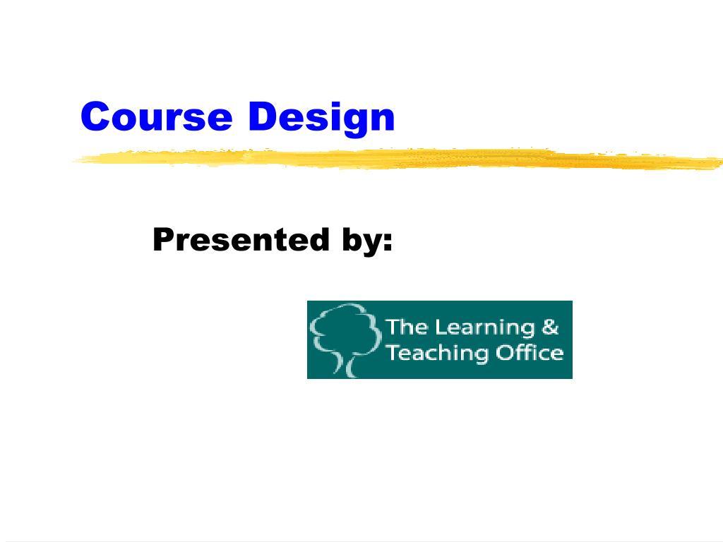 course design l.