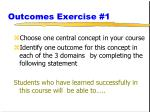 outcomes exercise 1