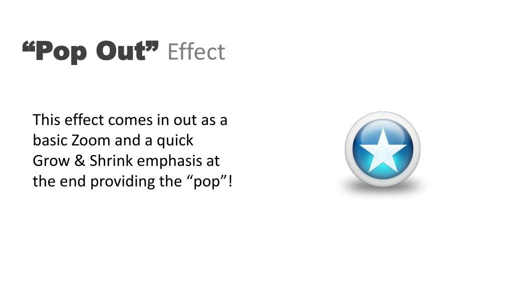 """""""Pop Out"""""""