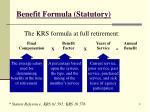benefit formula statutory