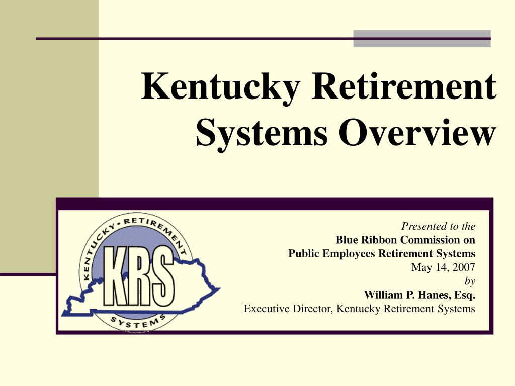 kentucky retirement systems overview l.