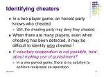 identifying cheaters
