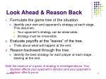 look ahead reason back