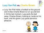 lucy van pelt vs charlie brown