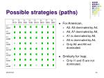 possible strategies paths