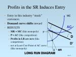 profits in the sr induces entry